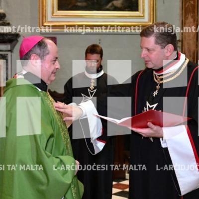 Quddiesa  u investitura tal-Ordni Militari Sovran ta' Malta, fl-Oratorju tal-Konkatidral ta' San Ġwann – 01/02/19