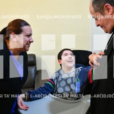Żjara mill-Isqof Awżiljarju f'Dar il-Kaptan, l-Imtarfa – 07/02/19
