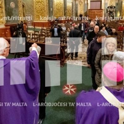 Quddiesa tal-Erbgħa tal-Irmied, fil-Konkatidral ta' San Ġwann – 06/03/19
