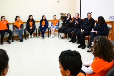 L-Isqof jiltaqa' mal-Kummissjoni Tfal u Abbatini – Viżta Pastorali Iklin – 09/03/19