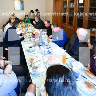 L-Isqof jattendi għal working breakfast mal-Kunsill Pastorali Parrokkjali – Viżta Pastorali Iklin – 10/03/19