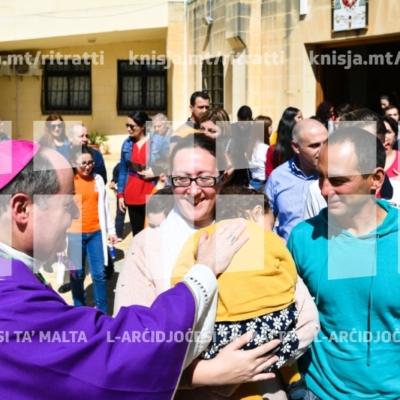 Quddiesa għat-tfal u l-ġenituri waqt il-Viżta Pastorali fl-Iklin – 10/03/19