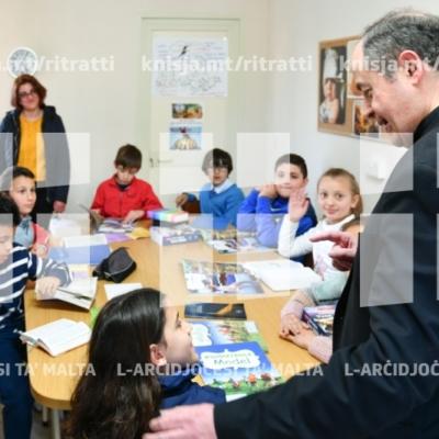 Żjara fil-klassijiet tal-katekiżmu u diversi laqgħat mal-Isqof fit-tmiem tal-Viżta Pastorali fl-Iklin – 14/03/19