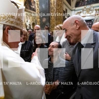 Quddiesa f'għeluq il-50 sena mill-Ordinazzjoni Presbiterjali tal-Arċisqof Emeritu Pawlu Cremona u l-Arċisqof George Frendo – 25/03/19