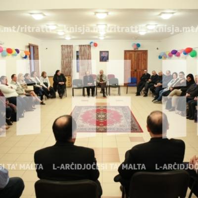 L-Isqof Awżiljarju jiltaqa' mal-operaturi pastorali tal-parroċċa waqt Viżta Pastorali fl-Imtarfa – 02/04/19