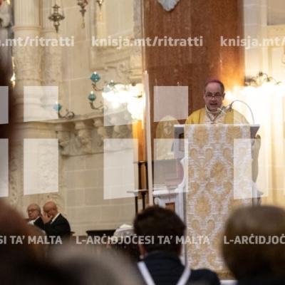 Quddiesa fil-Bażilika tal-Madonna tal-Karmnu, f'għeluq l-ewwel sena tal-konsagrazzjoni tal-knisja – 04/04/19