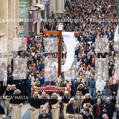 Purċissjoni bl-istatwa ta' Marija Addolorata mill-Knisja ta' Santa Marija ta' Ġesù, il-Belt Valletta – 12/04/19