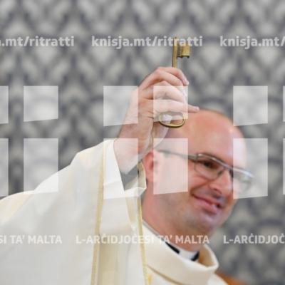 L-Arċisqof jagħti l-pussess lil Dun Charlon Muscat bħala l-kappillan il-ġdid tal-parroċċa ta' San Ġużepp Ħaddiem, Birkirkara –  27/04/19