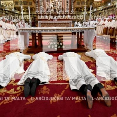 Quddiesa tal-Ordinazzjoni Presbiterali li fiha erba' djakni jiġu ordnati saċerdoti – 27/04/19