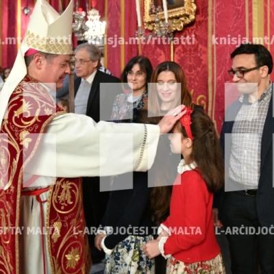 L-Isqof Awżiljarju jiċċelebra Quddiesa lejlet il-festa ta' San Publiju – 04/05/19