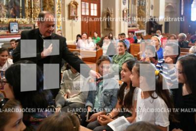 Bidu tal-Viżta Pastorali fil-Għargħur mill-Isqof Awżiljarju b'laqgħa mat-tfal, mal-adolexxenti u mal-katekisti – 31/05/19