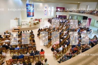 L-għoti tas-Sagrament tal-Griżma tal-Isqof fiż-żona pastorali tal-Ħniena Divina fin-Naxxar – 09/06/19