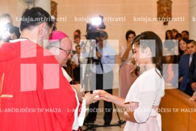 L-għoti tas-Sagrament tal-Griżma tal-Isqof fil-parroċċa Madonna ta' Lourdes f'San Gwann – 07/06/19