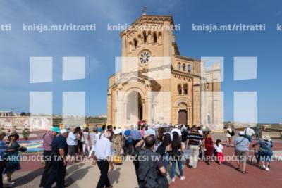 L-Arċisqof imexxi pellegrinaġġ nazzjonali u jiċċelebra Quddiesa fis-Santwarju tal-Madonna ta' Pinu, Għawdex – 22/06/19