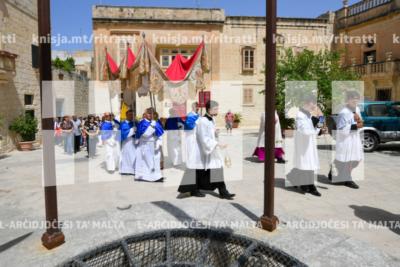 Quddiesa fil-Festa ta' Corpus Christi u purċissjoni mat-toroq ewlenin tal-Imdina – 23/06/19