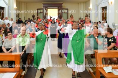 Quddiesa f'għeluq il-50 sena ta' ħajja reliġjuża ta' ħames sorijiet ta' Ulied il-Qalb ta' Ġesù, Fleur de Lys – 07/07/19