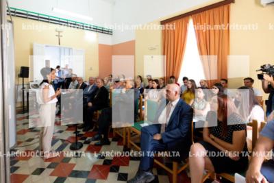 Quddiesa u laqgħa ma' studenti mill-Fakultà tal-Arkitettura dwar proposta ta' Taqsima tad-Dimensja f'Casa Leone, San Ġiljan – 22/07/19
