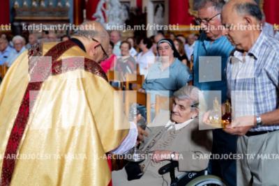 Quddiesa f'għeluq il-50 sena mill-ordinazzjoni presbiterali ta' Mons. Lino Grech, fil-Bażilika tal-Mosta – 28/07/19