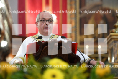 L-Isqof Awziljarju jiċċelebra Quddiesa fl-ewwel anniversarju mill-ordinazzjoni episkopali tiegħu, Ħal Bazlan – 04/08/19