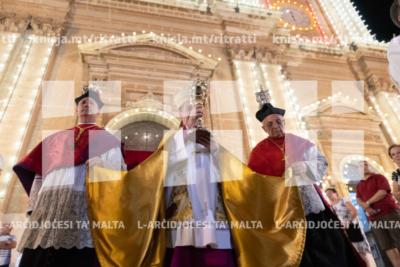 Repożizzjoni tar-relikwa ta' Santa Elena u għoti tal-Barka Sagramentali fil-Bażilika ta' Santa Elena, Birkirkara – 18/08/19