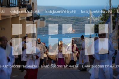 Traslazzjoni tar-relikwa u Pontifikal Statali fil-Knisja Arċipretali tal-Mellieħa, lejlet il-festa tat-Twelid tal-Verġni Marija – 07/09/19