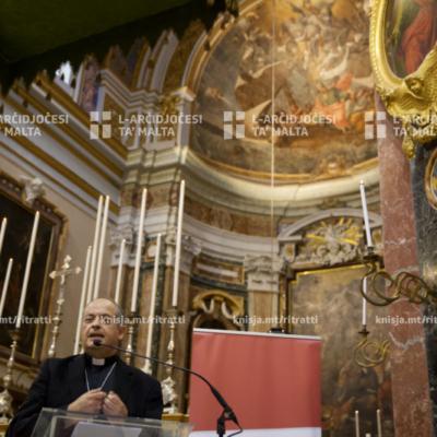 Proġett ta' restawr u konservazzjoni tal-pittura fl-apside tal-Katidral ta' San Pawl, l-Imdina – 08/10/19