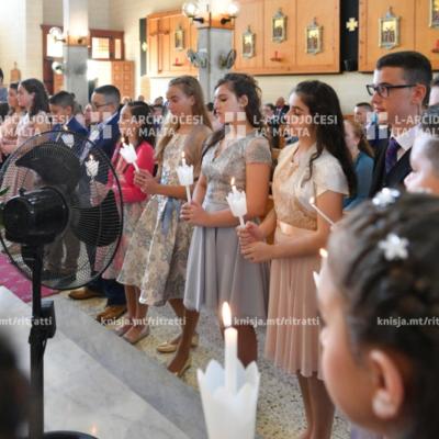 L-għoti tas-Sagrament tal-Griżma lill-adolexxenti, fil-Knisja ta' San Ġużepp Ħaddiem, Birkirkara – 20/10/19