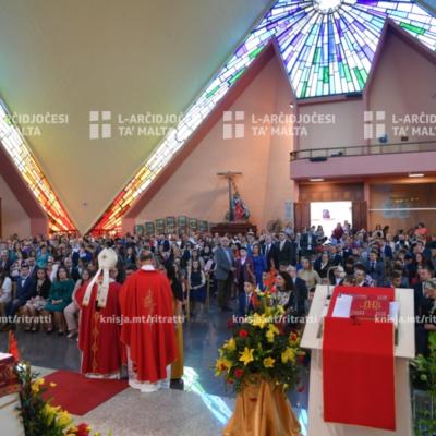 L-għoti tas-Sagrament tal-Griżma fil-Knisja Parrokkjali tal-Madonna tal-Karmnu, Fgura – 26/10/19