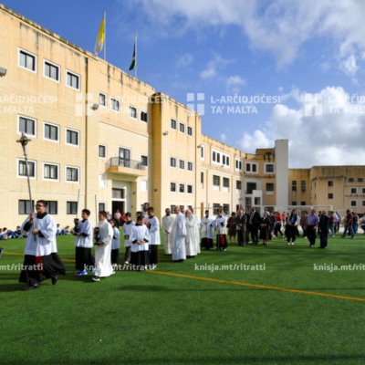 Quddiesa fl-okkażjoni tal-ftuħ u t-tberik tal-faċilitajiet il-ġodda tal-Iskola St Michael's, Sta Venera – 06/11/19