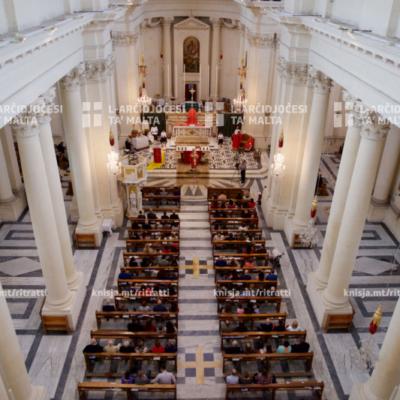 L-għoti tas-Sagrament tal-Griżma lill-adolexxenti, fil-Knisja Parrokkjali ta' San Ġużepp, il-Kalkara – 17/11/19