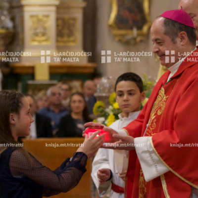 L-għoti tas-Sagrament tal-Griżma lill-adolexxenti, fil-Knisja Parrokkjali tal-Lunzjata, Ħal Balzan – 17/11/19