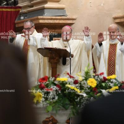 L-għoti tas-Sagrament tal-Griżma lill-adolexxenti, fil-Knisja Parrokkjali ta' Ħaż-Żabbar – 24/11/19