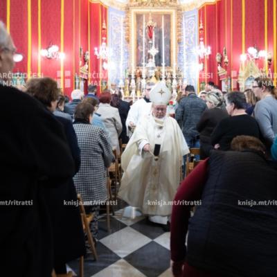 L-Arċisqof jinawgura l-pavimentar tal-irħam tal-Knisja ta' Loreto, il-Gudja – 04/12/19