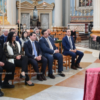 Inawgurat xogħol ta' restawr fuq 14-il pittura fil-Bażilika ta' Marija Mtellgħa s-Sema, Mosta – 08/12/19