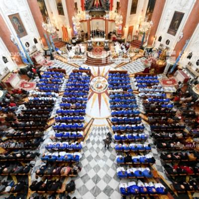 L-Arċisqof iċċelebra quddiesa mal-Fratellanza ta' San Ġużepp fil-ftuħ tas-Sena Ġużeppina, is-Santwarju tal-Madonna tal-Karmnu, il-Belt Valletta – 19/01/20