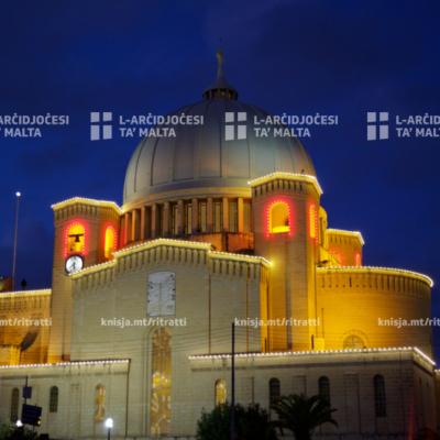L-Isqof Awżiljarju ċċelebra Quddiesa fil-festa liturġika ta' San Sebastjan fil-Knisja Parrokkjali ta' San Sebastjan, Ħal Qormi – 20/01/20