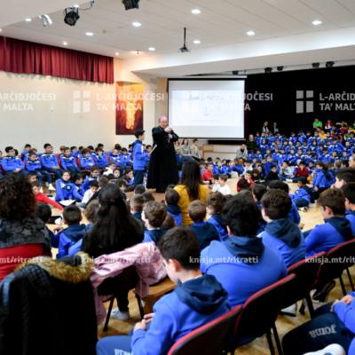 L-Arċisqof żar l-istudenti u l-edukaturi tas-Seminarju Minuri, Tal-Virtù, ir-Rabat – 22/01/20