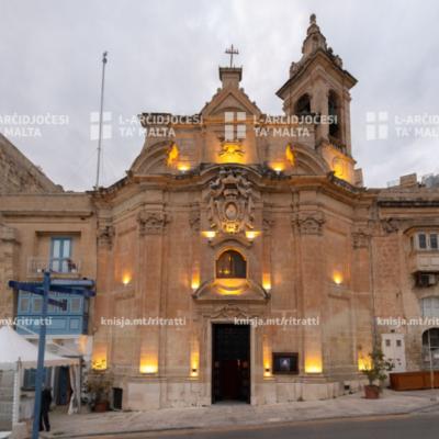 L-Arċisqof attenda għal tnedija tal-ktieb Ta' Liesse: Malta's Waterfront Shrine for Mariners, fil-Knisja Ta' Liesse, il-Belt Valletta – 23/01/20