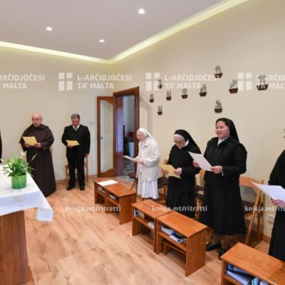 Viżta Pastorali: L-Isqof Awżiljarju żar il-komunità tas-Sorijiet Karmelitani fi Fleur-de-Lys – 23/01/20