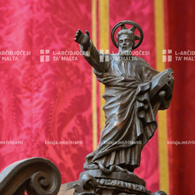 L-Arċisqof iċċelebra Pontifikal Solenni fil-festa tan-Nawfraġju ta' Missierna San Pawl, fil-Katidral tal-Imdina – 26/01/20
