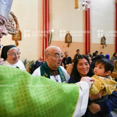 Viżta Pastorali Fleur-de-Lys: Quddiesa għall-komunità Filippina u Indjana u żjara lill-komunità tas-Sorijiet Agostinjani mill-Isqof Awżiljarju – 26/01/20