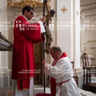 Azzjoni Liturġika tal-Passjoni u l-Mewt tal-Mulej mill-Kappella tal-Madonna ta' Manresa, fil-Kurja – 10/04/20