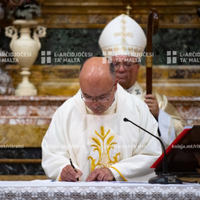 Quddiesa tal-bidu tal-ħidma pastorali tal-Kappillan Patri Alex Cauchi fil-Parroċċa ta' Santu Wistin, il-Belt Valletta – 22/05/20