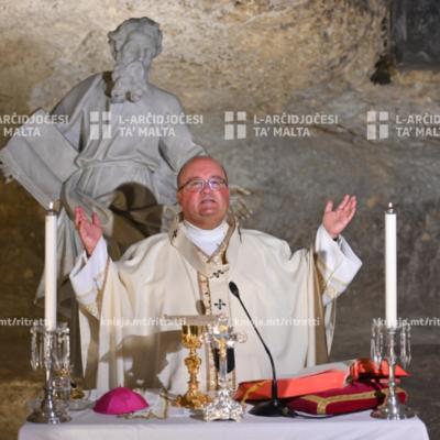 Tnedija tad-dokument 'Knisja Waħda, Vjaġġ Wieħed' waqt quddiesa tas-Solennità tat‑Trinità Qaddisa, fil-Grotta ta' San Pawl, ir-Rabat – 07/06/20