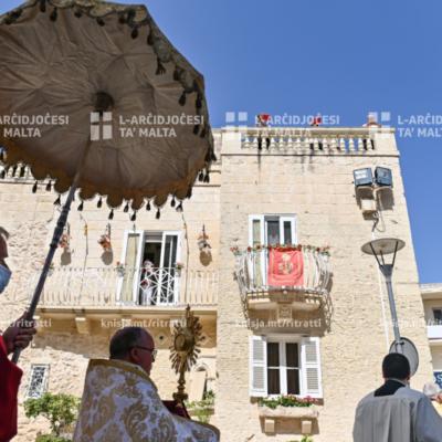 Quddiesa fis-Solennità tal-Ġisem u d-Demm ta' Kristu (Corpus Christi), fil-Knisja Arċipretali Kolleġġjata ta' San Pawl, ir-Rabat – 14/06/20