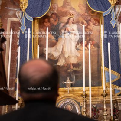 Quddiesa fil-115-il Anniversarju tal-Inkurunazzjoni tal-Kwadru Titulari fil-Knisja Kolleġġjata tal-Immakulata Kunċizzjoni, Bormla – 25/06/20