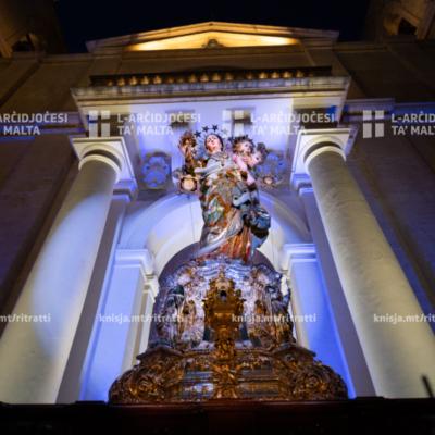 Quddiesa u pellegrinaġġ fil-festa tal-Madonna tal-Karmnu, fil-Bażilika tal-Madonna tal-Karmnu, il-Belt Valletta – 16/07/20