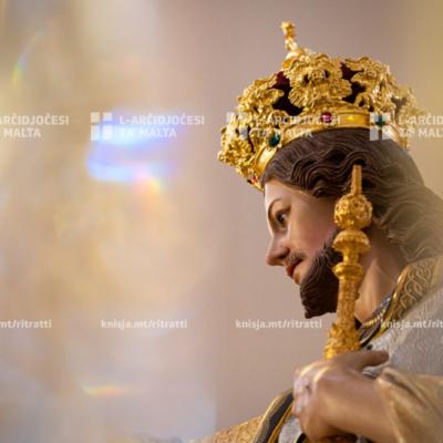 Quddiesa tal‑Festa ta' Kristu Re, fil‑Knisja Parrokkjali ta' Kristu Re, Raħal Ġdid u qari tad‑digriet għal Bażilika Minuri – 26/07/20