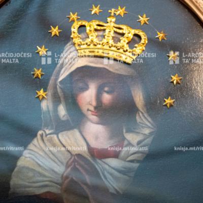 Talba tar‑rużarju u l‑att ta' konsagrazzjoni lill‑Verġni Marija fis‑Santwarju tal‑Madonna tas‑Saħħa, fil‑Knisja San Franġisk, ir‑Rabat – 15/08/20