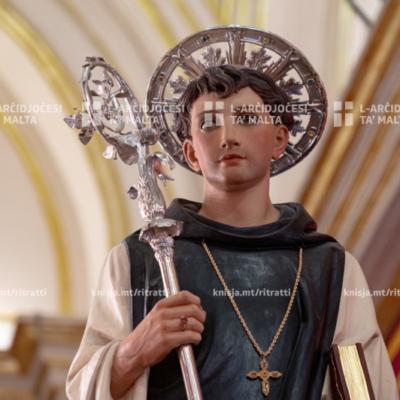 L‑Arċisqof iċċelebra Quddiesa Pontifikali fil‑festa ta' San Leonardu, fil‑Knisja Parrokkjali ta' San Leonardu, Ħal Kirkop – 22/08/20